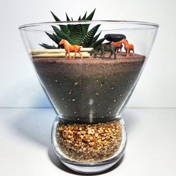 Yeşil Atölye - At Çiftliği Konseptli Terrarium