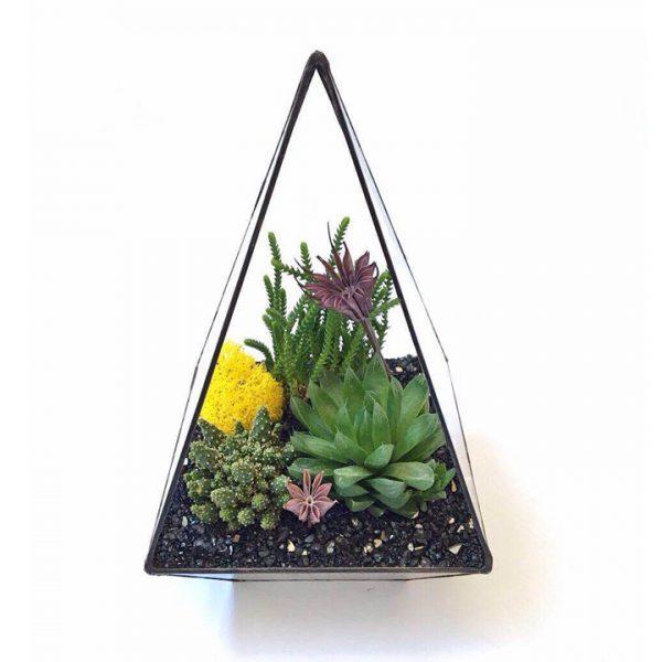 Yeşil Atölye - Geometrik Prizma Terrarium