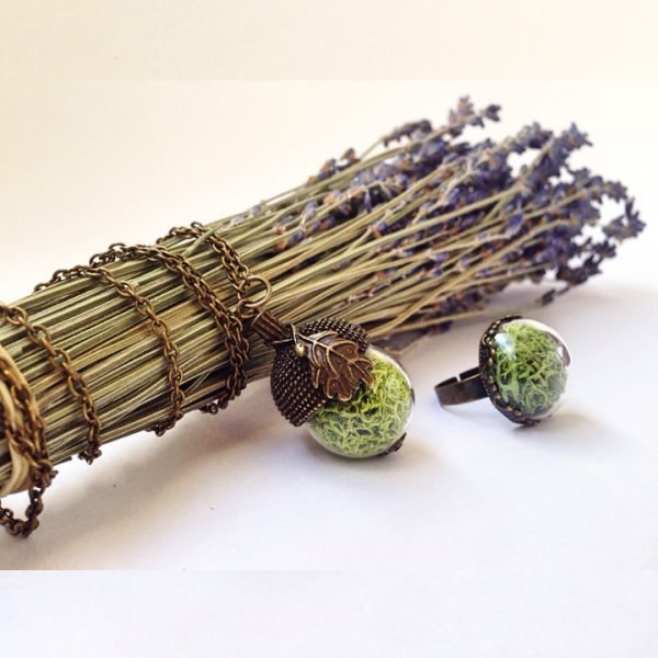 Yeşil Atölye - Giyilebilir Terrarium Takı Seti
