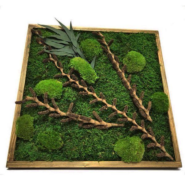 Yeşil Atölye - Canlı Yosun Tablo